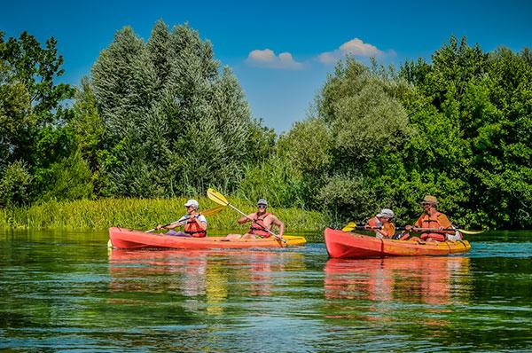 Kayakfahrt am Cetina Fluss